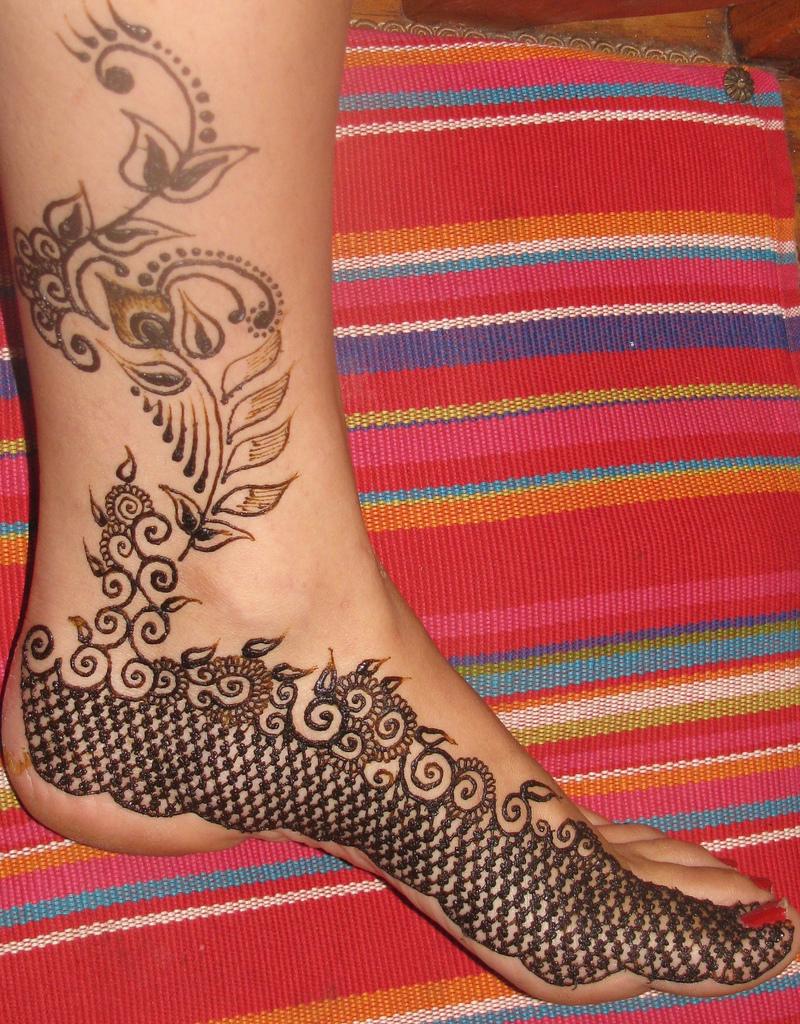Henna Feet Tattoo Design