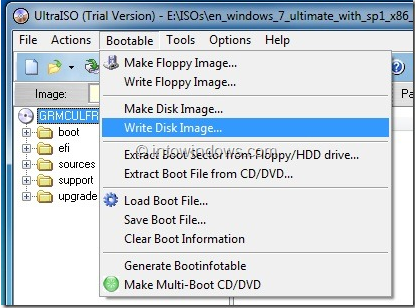 How to Use UltraISO To Mount ISO And Make Bootable CD DVD