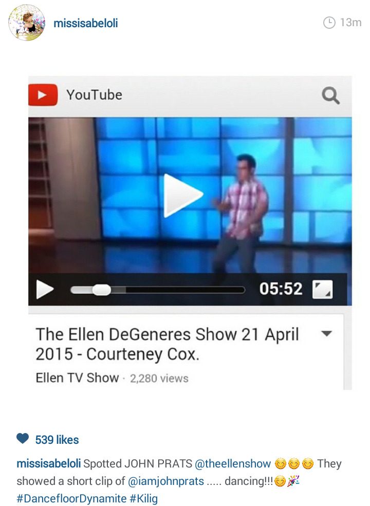 John Prats Dances on Ellen
