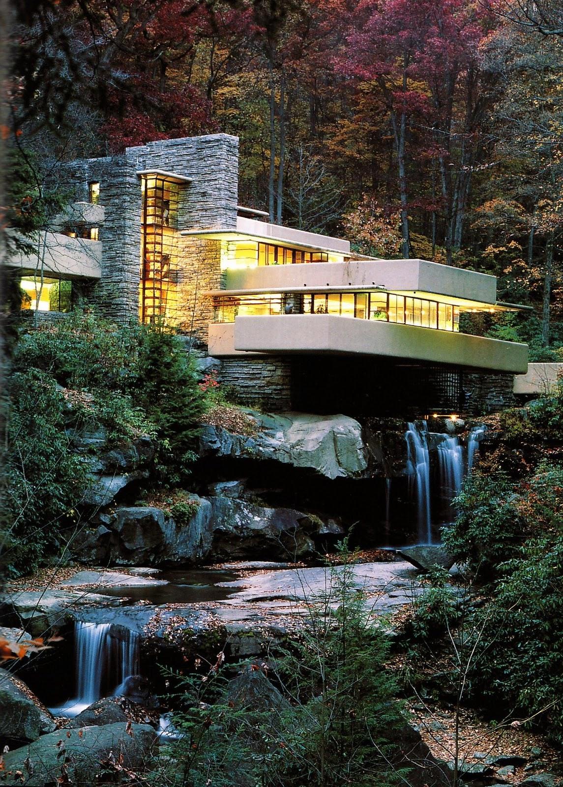 Un concetto organico la casa sulla cascata for Wright la casa sulla cascata