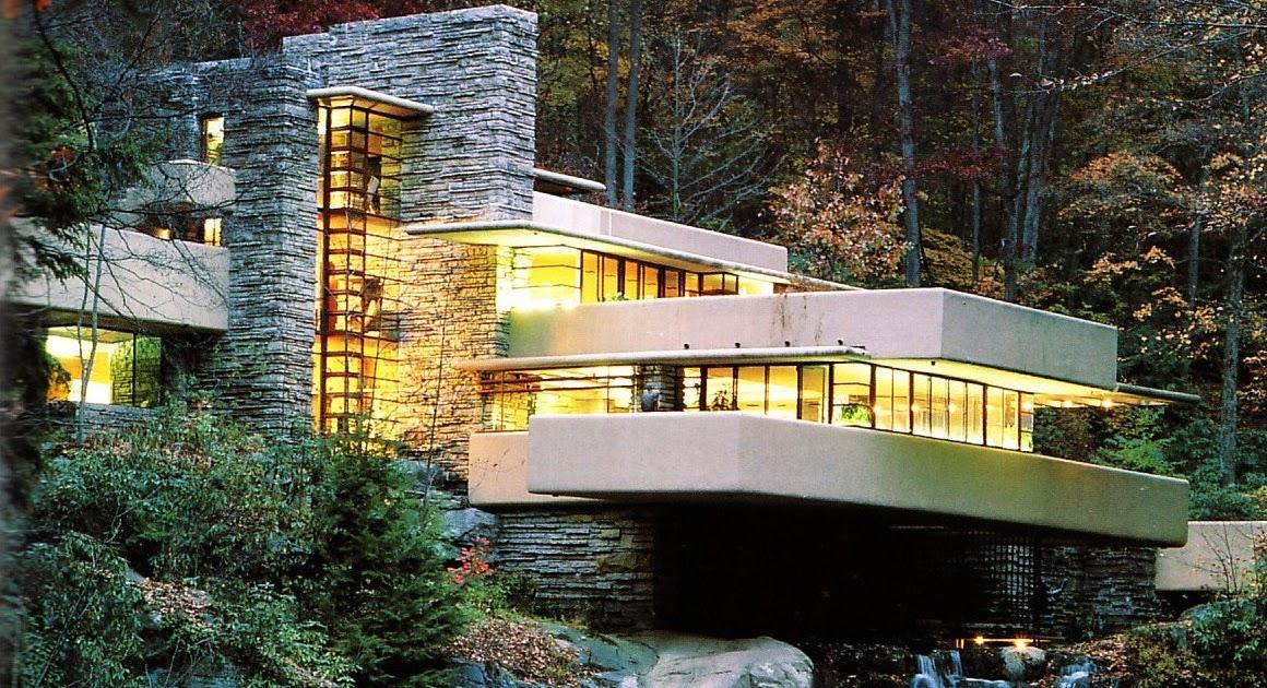 Un concetto organico la casa sulla cascata for Frank lloyd wright piani casa della prateria