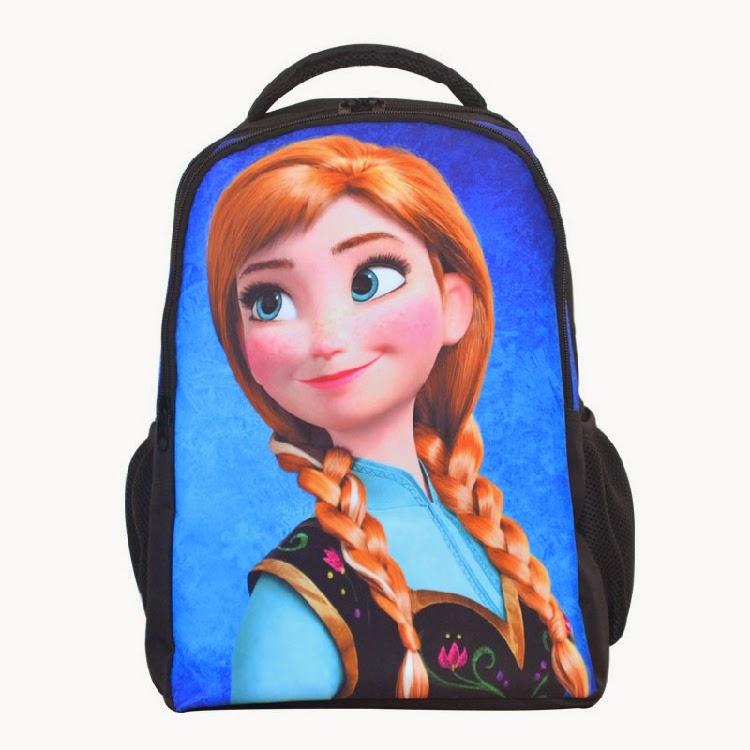 Gambar tas ransel elsa frozen warna biru untuk anak