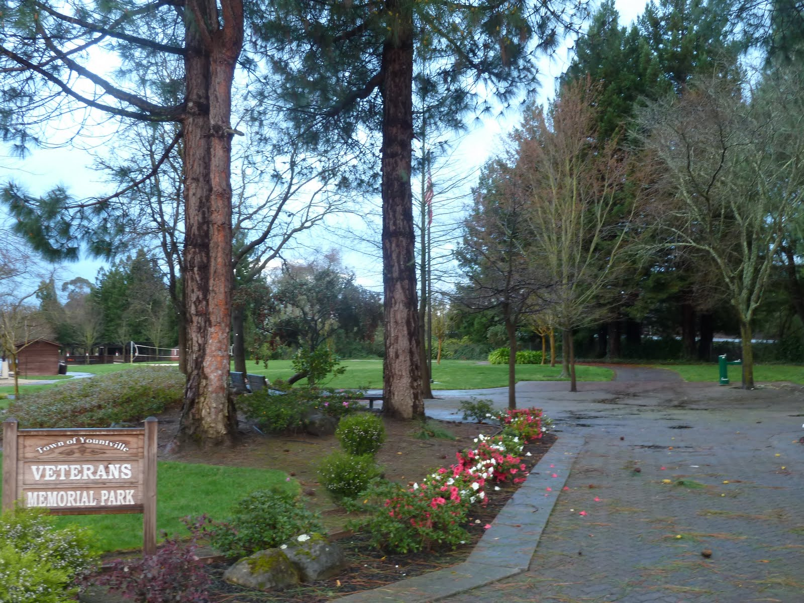After Walking A Couple Miles North From NAPA Noe Offered Me Ride To Yountsville He Let Out At Veterans Memorial Park