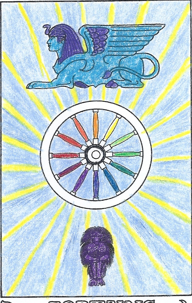 The magical witch march 2012 a rough draft of the wheel of fortune as colored by the rr et ac fandeluxe Choice Image