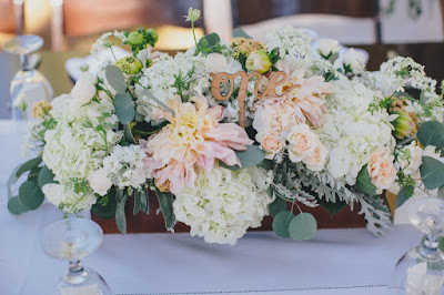 Rustic white and blush wedding centerpieces l Gatekeeper's Museum Tahoe l Sun + Life Photo l Johnny B Video l Take the Cake Event Planning