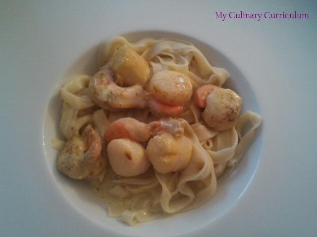 My culinary curriculum noix de st jacques au curry et tagliatelles - Noix de saint jacques curry ...