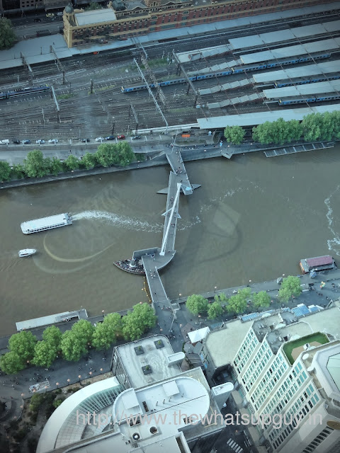 View of Southbank Footbridge from Eureka Towers
