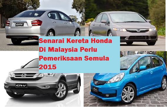 model Honda Di Malaysia 2015