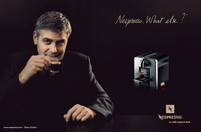 George Clooney drinking nespresso, what else ?