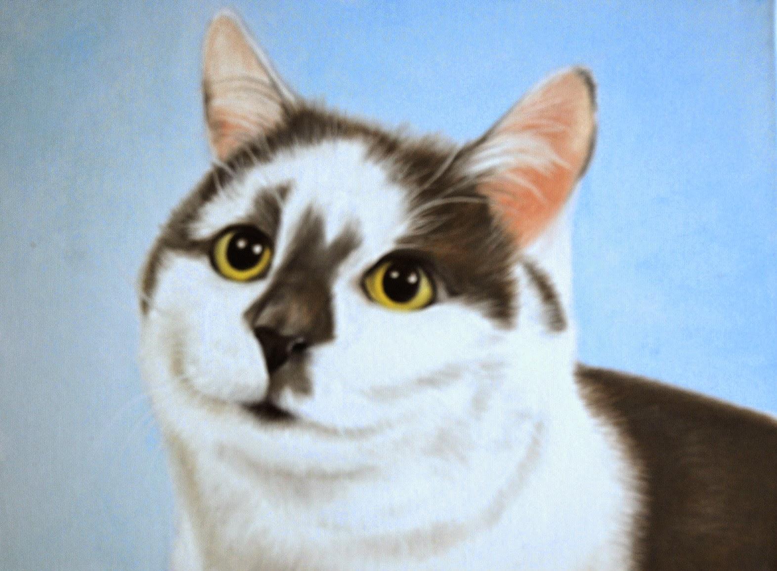 Cat Portrait by Lucy Cat Art