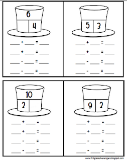 math worksheet : first grade shenanigans february 2012 : Math Fact Families Worksheets 2nd Grade