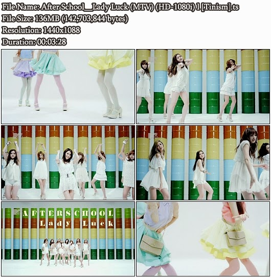 Dowmload PV After School - Lady Luck (MTV Full HD 1080i)