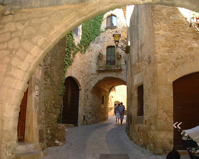 Street on the Gothic Quarter of Pals