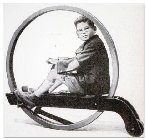 10 Inovasi Transportasi Tempo Dulu Terkonyol di Dunia: Roda Jumbo