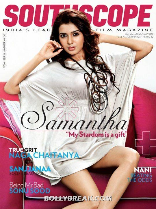 Samantha Southscope  cover scan - Samantha Hot Southscope mag cover