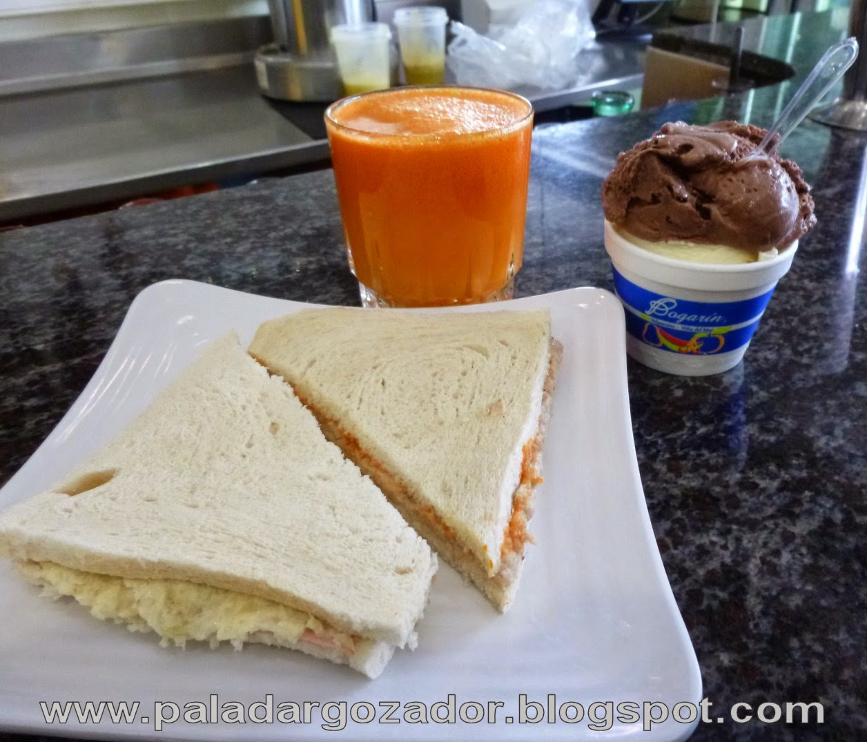 Bogarin Valparaiso Sandwich jugo helado