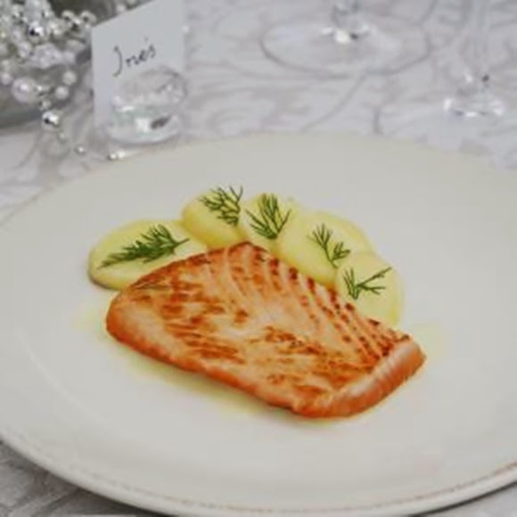 Salmon Marinado A La Parrilla