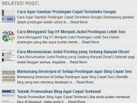 Cara Memasang Artikel Terkait dengan Gambar dan Deskripsi di Blog