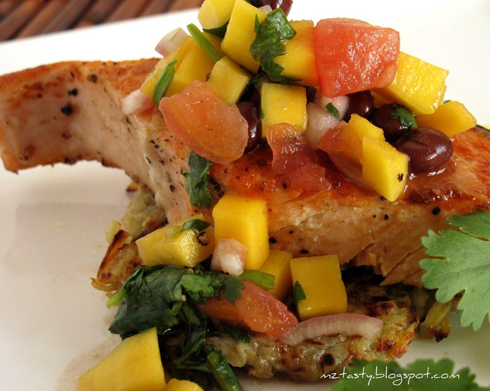 MzTasty's Kitchen, Savor The Flavor: Grilled Salmon with Mango Salsa