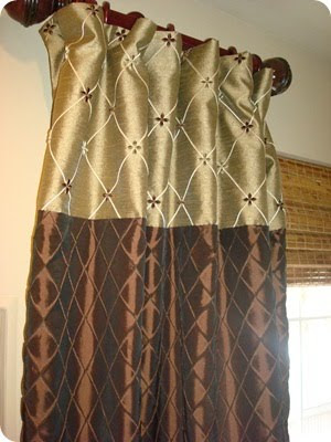 my search continued until i found 3 rods that would work great but not a 4th rodsobsob but then i found a tie back with the same knobs as my curtain