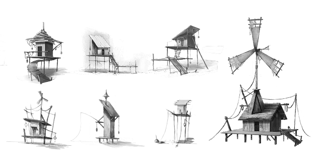 Design cabanes sur pilotis