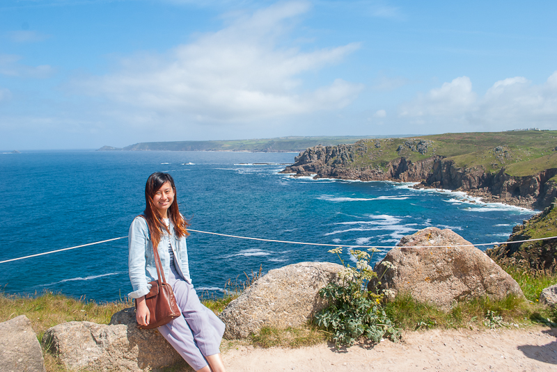 fashion post, outfit of the day, summer in land's end, west cornwall, uk