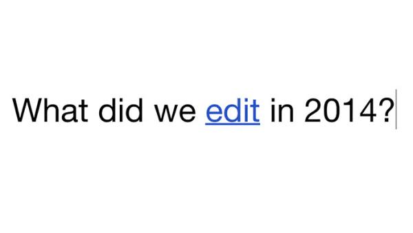بالفيديو ويكبيديا تكشف عن أكثر المواضيع تداولا في 2014