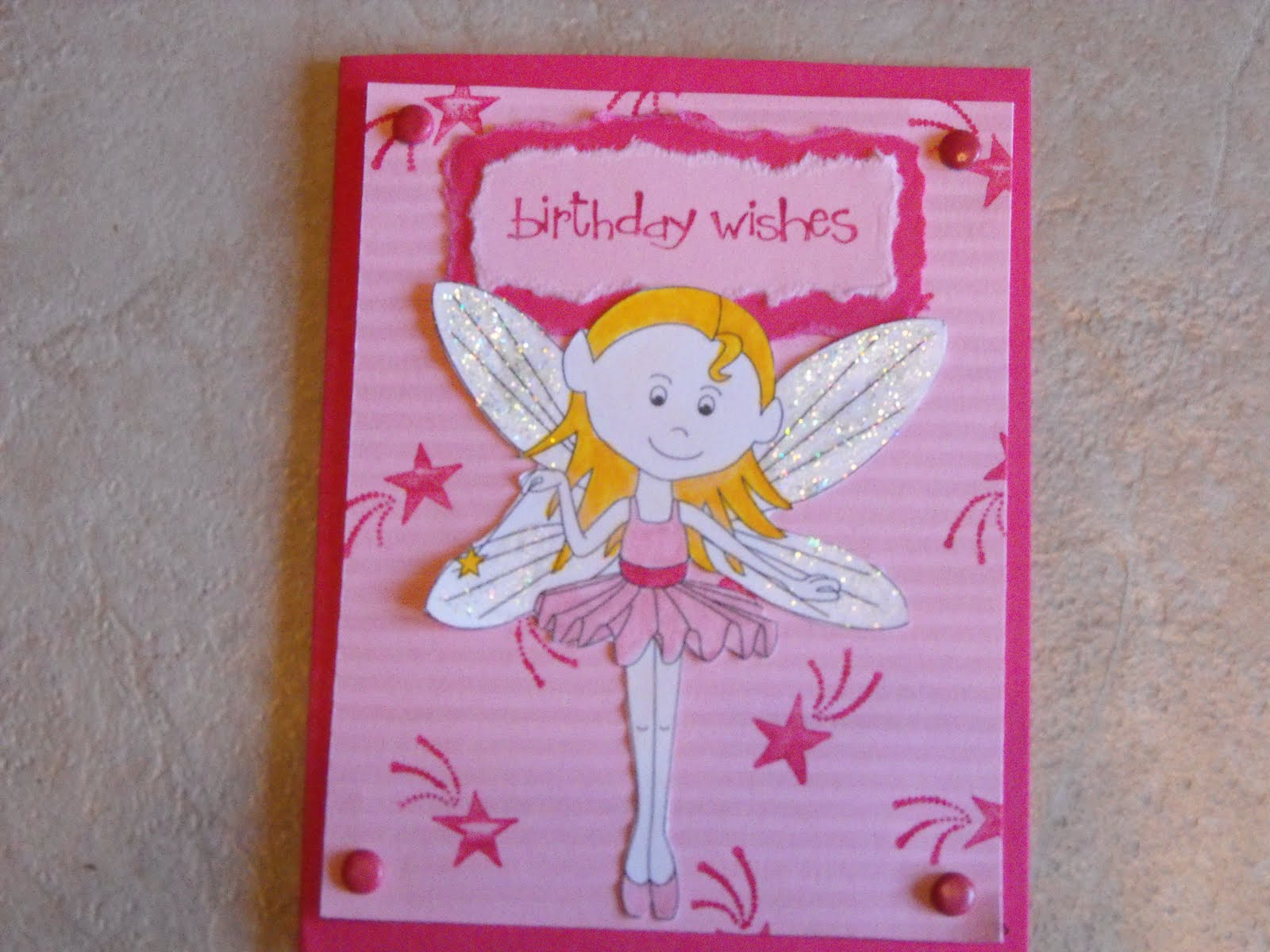 Handmade Cards Ideas Birthday Fairy Card