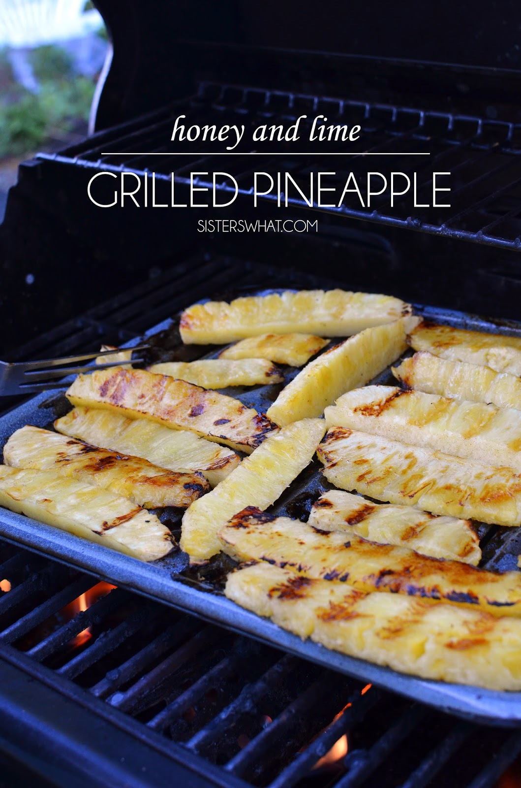 honey and lime grilled pineapple