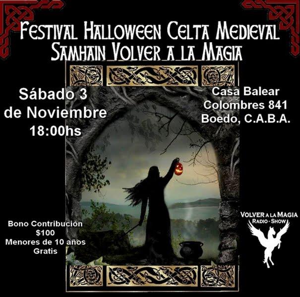 FESTIVAL HALLOWEEN CELTA MEDIEVAL SAMHAIN VOLVER A LA MAGIA