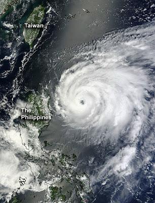 Tifón Tembin, llegara a Taiwan el 23 de Agosto 2012