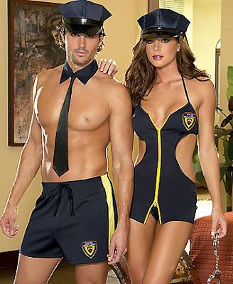 sexy policeman and policewoman