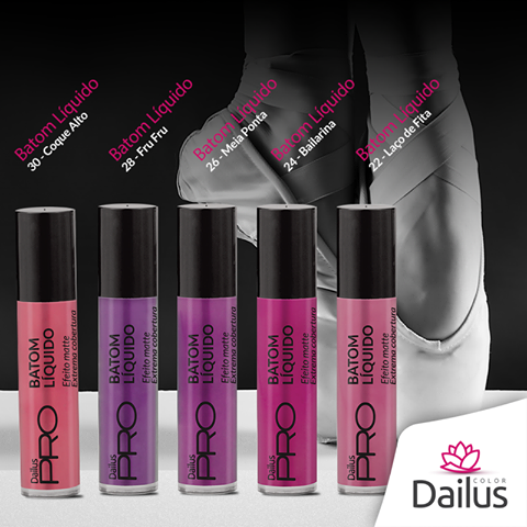 Batom líquido efeito matte – Dailus