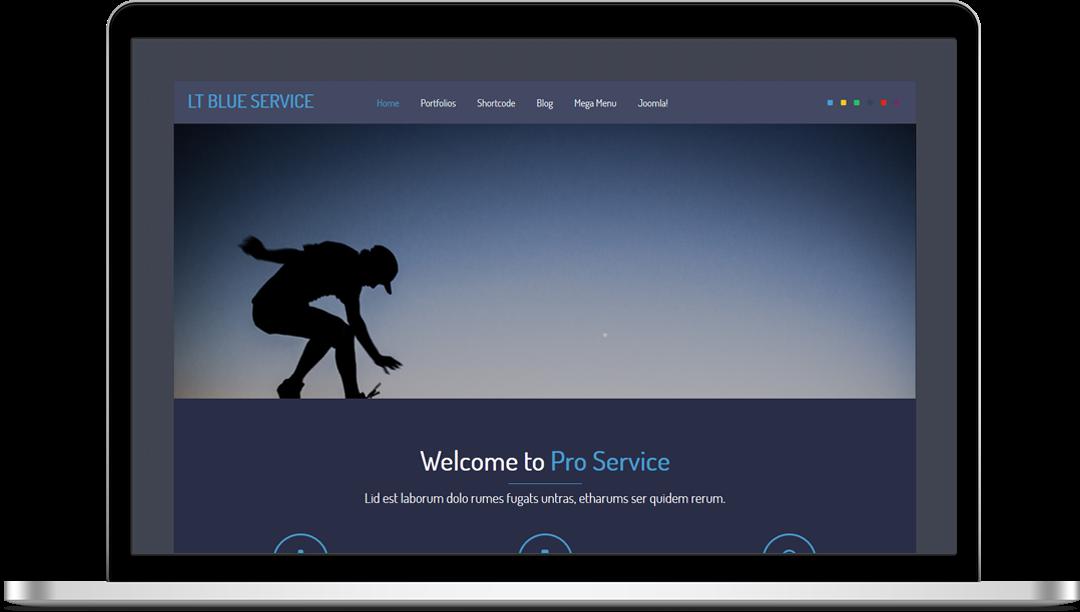 LT Blue Service Onepage - Free Joomla! Template