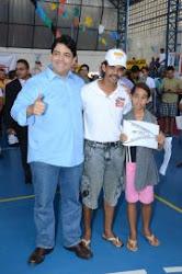 O candidato a Prefeito de Abreu e Lima ao lado de Silvio da Oásis do Nordeste