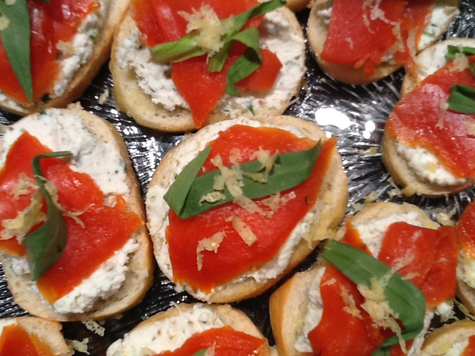 ... recipe on food52 mascarpone and goat cheese torta with smoked salmon
