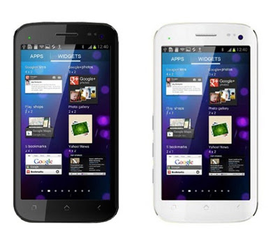 micromax canvas A100- white & black