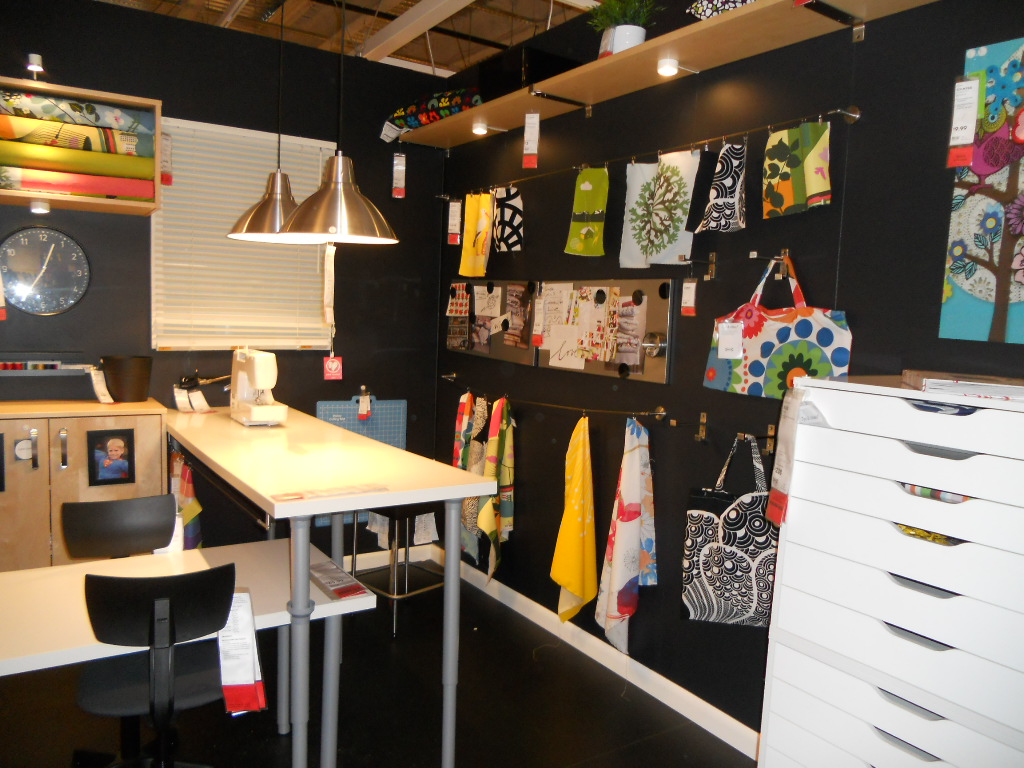 Gleeza craft room inspiration from ikea for Craft and sewing room ideas
