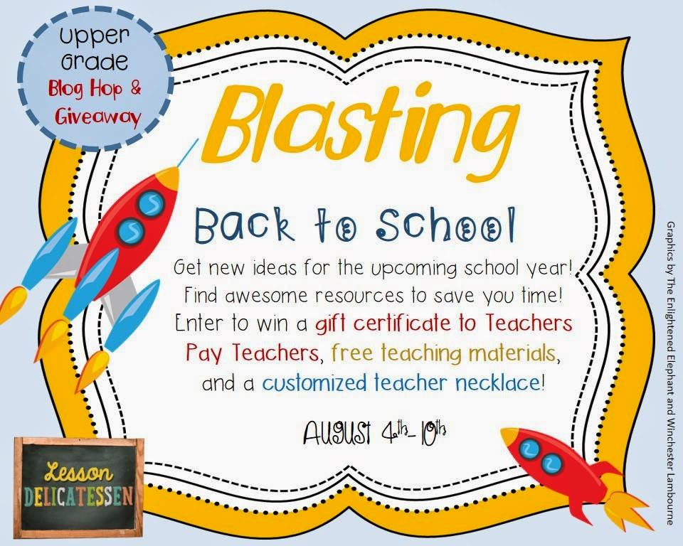 http://mrsbeerslanguageartsclass.blogspot.com/2014/08/blasting-back-to-school-giveaway-and-5.html