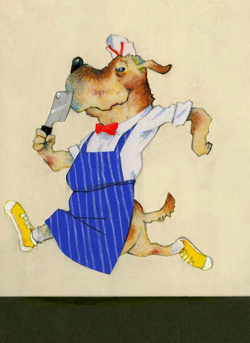 fit as a butcher's dog illustration by Robert Wagt