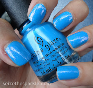 China Glaze DJ Blue By You Layering