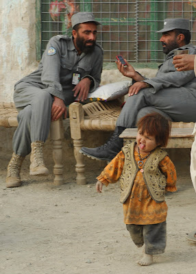 Funny and cute afghan children