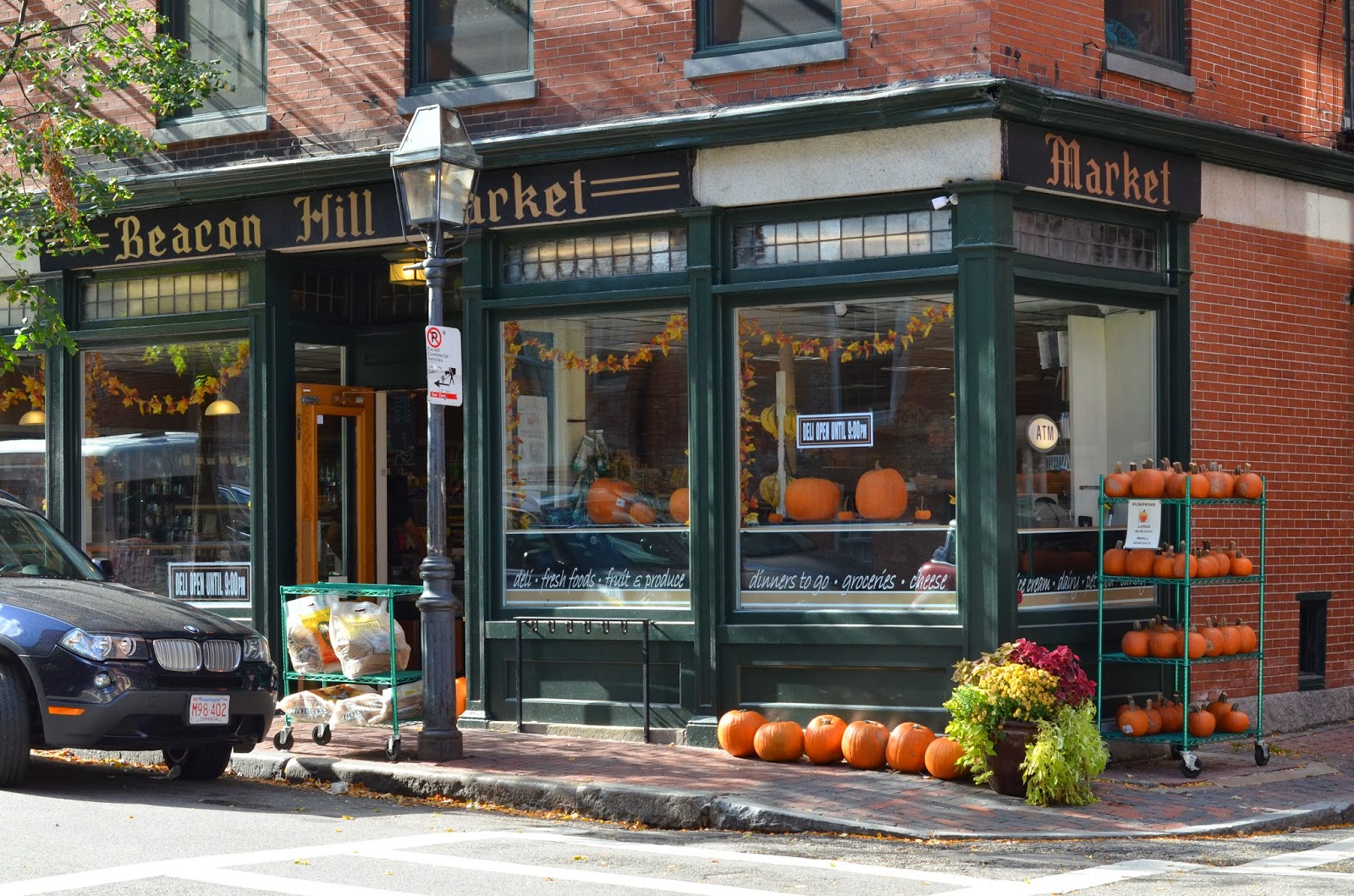 Beacon Hill, Boston, Massachusetts, pumpkins, market