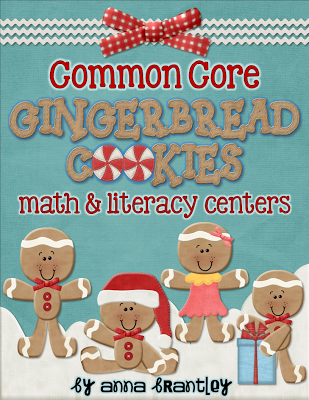 http://www.teacherspayteachers.com/Product/Common-Core-Gingerbread-Cookies-Math-Literacy-Centers-446487