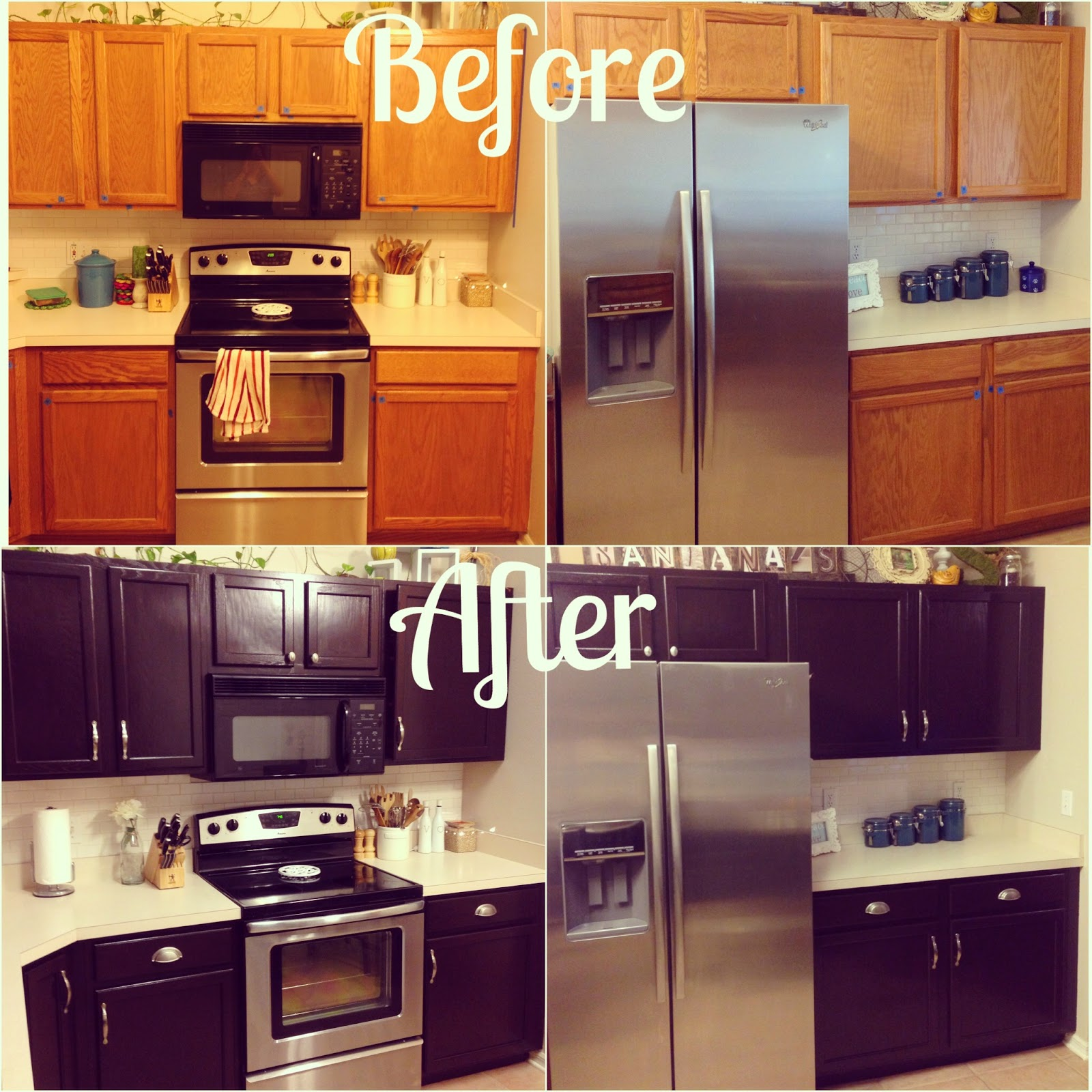 Kitchen makeover for 100 the learning tree for Kitchen cabinet finishes