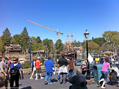 Disneyland crane Big Thunder Mountain Railroad refubishment