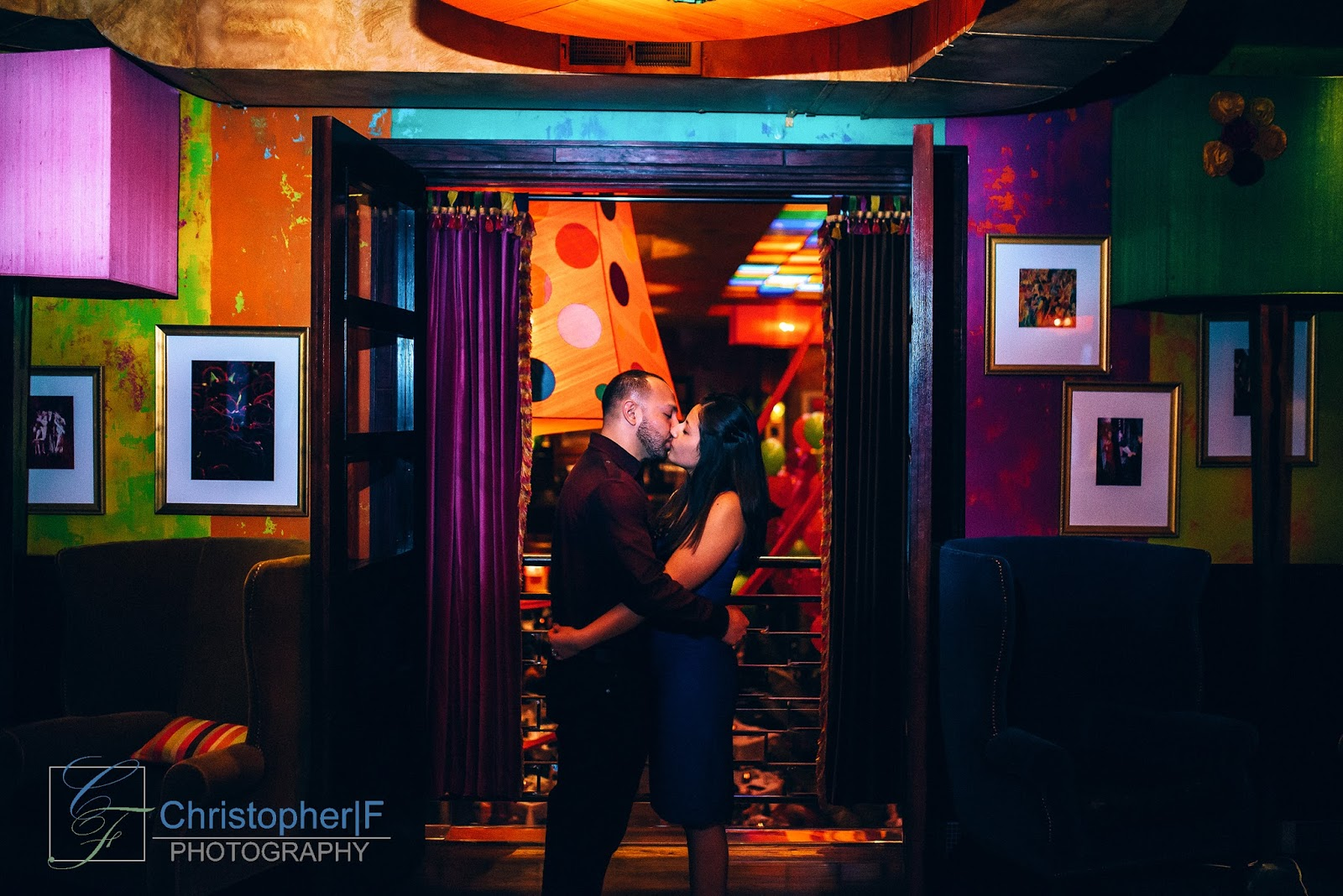Carnivale Chicago Engagement Photo