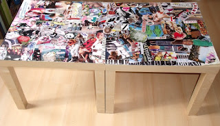 Urban magpies l 39 histoire homemade de ma table basse - Customiser une table en formica ...