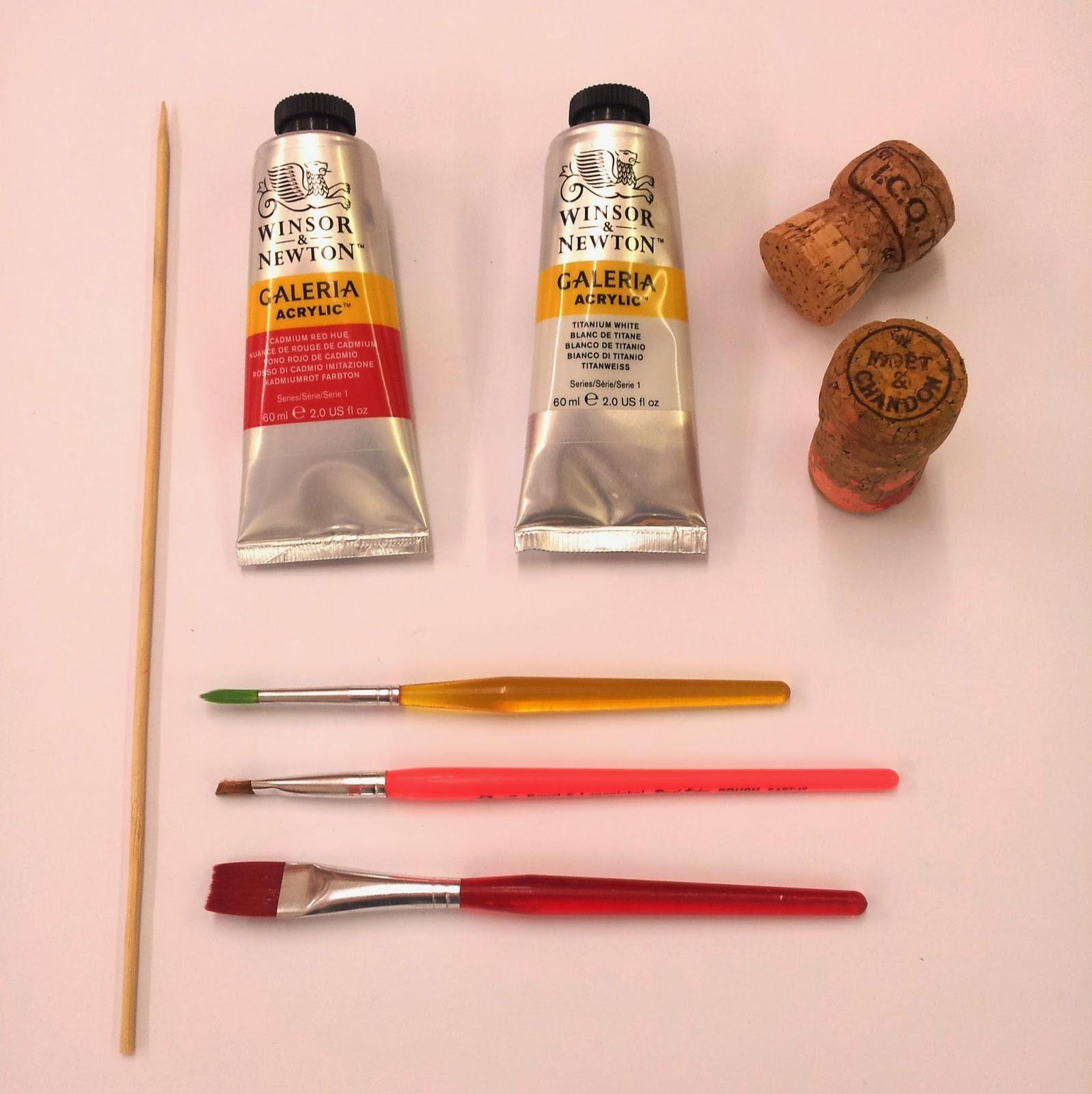 Stiff wire for crafts - Kebab Sticks Or Similar Medium Sized Paintbrush With Flat Head Thin Paintbrush With Rounded Head Stiff Wire Wirecutters Natural Craft Card