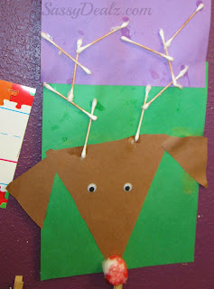 reindeer art project using q tips